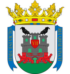 Coat of arms of vitoria-gasteiz in basque country vector