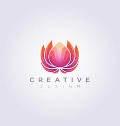 Colorful decorative lotus flower design clipart vector