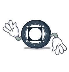 Crazy byteball bytes coin mascot cartoon vector