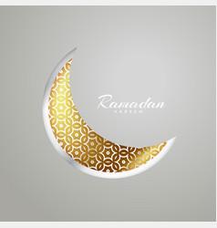 Creative moon design for ramadan kareem festival vector