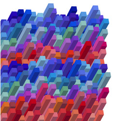 Cubical colorful abstract background vector