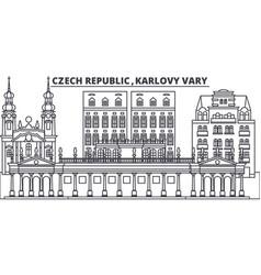 czech republic karlovy vary line skyline vector image
