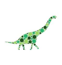 Dotted dinosaur vector