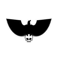 eagle and skull template for emblem hawk logo vector image