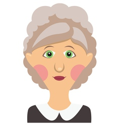 Elderly woman vector image