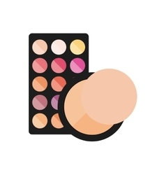 Female make up product isolated icon vector