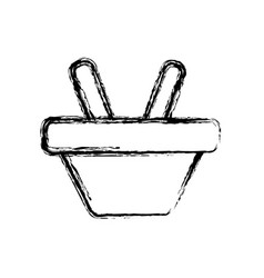 Figure shopping basket symbol icon vector