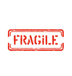 fragile isolated grunge box sign for cargo vector image