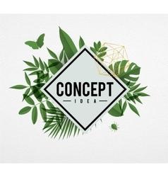 Frame floral concept green vector image