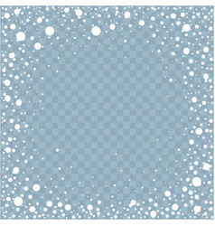 frame from falling snow effect vector image