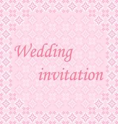 Frame wedding invitation vector