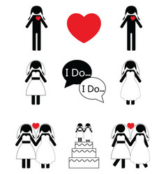 Gay woman wedding vector image