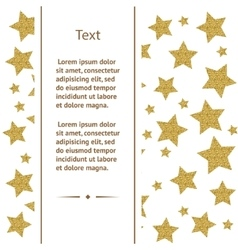 Greeting card with gold stars vector image