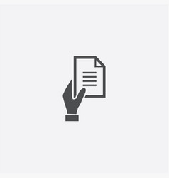 Hand document icon vector