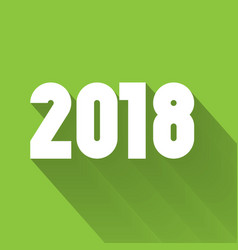 happy new year 2018 modern design element with vector image