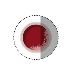 Isolated tea cup design vector