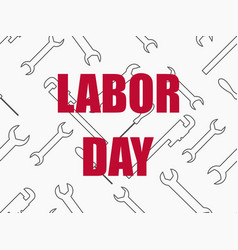 labor day seamless background with wrenches vector image