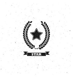 Laurel wreath and star vector