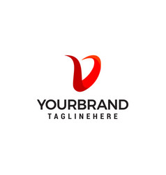 letter v modern logo design concept template vector image