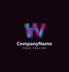 letter w modern wave line logo design template vector image