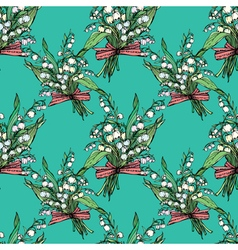 Lily valley seamless 380 vector
