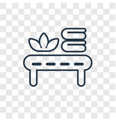 massage concept linear icon isolated on vector image