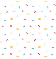 Mathematical symbols seamless pattern background vector