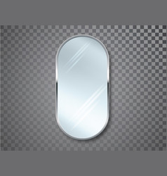 mirrors with blurry reflection mirror frames or vector image