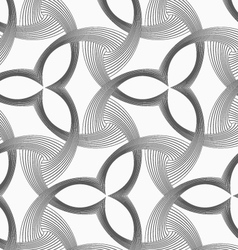 Monochrome three pedal flowers with striped vector