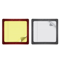 notepads with leather vector image