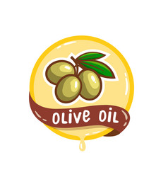olive oil logo natural product emblem vector image