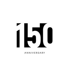 One hundred fifty anniversary minimalistic logo vector