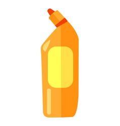 orange plastic bottle for toilet cleaner plastic vector image