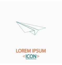 Paper Plane computer symbol vector image