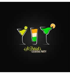 Patrick day cocktail design background vector image