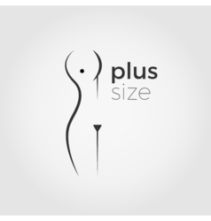 Plus size woman logo concept vector