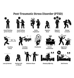 Post traumatic stress disorder ptsd signs and vector