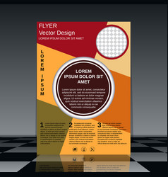 professional business flyer design vector image