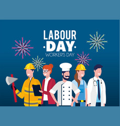 Professional employers to labour day holiday vector