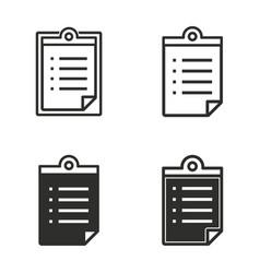 registration icon set vector image