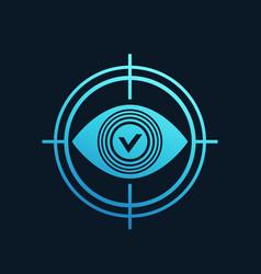 Retina scanning icon vector