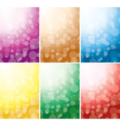set of abstract color backgrounds with bokeh vector image