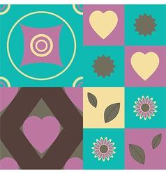 Set of retro seamless patterns vector image