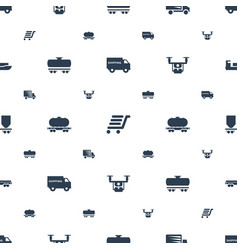 shipment icons pattern seamless white background vector image