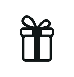 Simple black icon of Present on white background vector