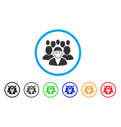 Staff leader rounded icon vector
