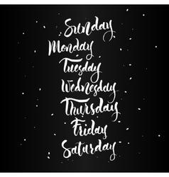 Sunday monday tuesday wednesday thursday vector