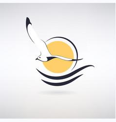 Symbol seagull vector
