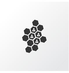 Team honeycomb icon symbol premium quality vector