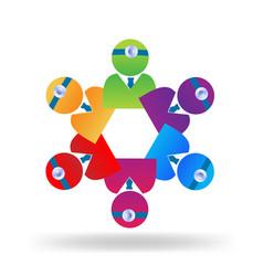 Teamwork medical people logo vector